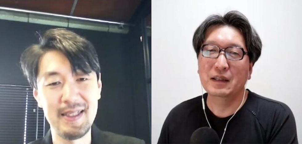 対談の様子(左:沢渡あまね、右:友岡賢二氏)